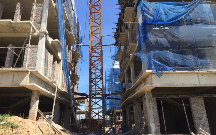 Thi công xây dựng nhà liền kề Đại Mỗ