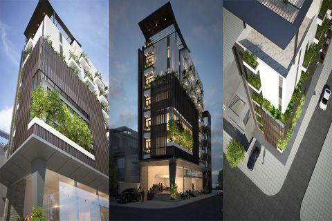 Thiết kế thi công tòa nhà văn phòng